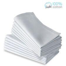 8 Pack premium white 100% cotton restaurant wedding dinner cloth napkins 20x20
