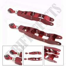 RED FOR 08-13 WRX STI 10-13 LEGACY 13+ FRS BRZ REAR LOWER CONTROL ARM ADJUSTABLE