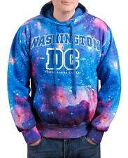 Hoodie Galaxy Washington DC Blue Sweatshirt Embroidered Letters Unisex size L