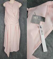 ASOS NWT Women's Size 6 Wedding Wrap Drape Dress Cocktail Prom Wedding Pink Rose