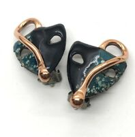 Renoir Copper Set Grecian Revival Modernist Choker Necklace Matching Earrings