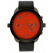 Relojes de pulsera de cuero de zona horaria para hombre