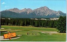 JASPER NATIONAL PARK, Alberta  . Canada  View of the 9th HOLE   c1950s