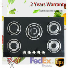 """New listing 30"""" Black Electric 5 Burner Cooktop Tempered Glass Built-in Oven Gas—Us Seller"""