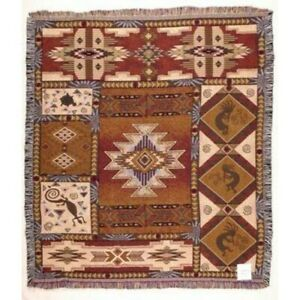 "Simply Home Kokopelli Native American Tapestry Throw Blanket 50"" x 60"""
