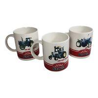 Set of 3 Ford Tractors Coffee Mugs: Series 7000 Series, 9600 & 8730