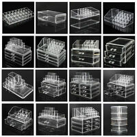 Acrylic Clear Cosmetic Organizer Drawer Makeup Holder Case Jewelry Storage Box