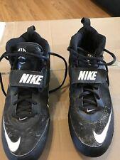 Nike Black & White Football Cleats Men's Size 9