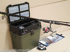 Sea Fishing Beach Kit with Seat & Tackle Box 13ft Fladen Rod Reel Tackle Rigst