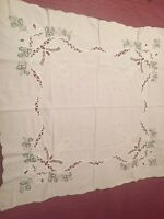 Christmas Theme German Cotton Vintage Tablecloth
