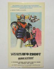VECCHIO ADESIVO / Old Sticker GOLDRAKE ALL'ATTACCO robot gamberini (cm 7 x 12)