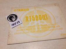 Yamaha XT500E XT500 XT 500 E 2H2 78 supplément manuel atelier workshop manual