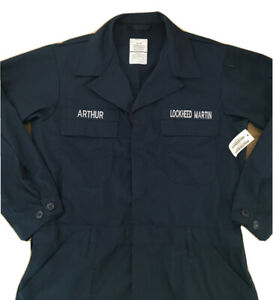 """US NAVY Utility Coverall NEW Size 48R Lockheed Martin and """"ARTHUR"""" Name Patch"""