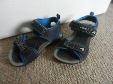 Boys Clarks Cica Blue Velcro Sandals 8.5 Summer Holiday Beach Pool Good Cond