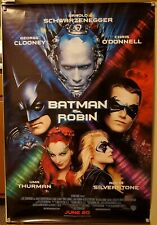 GEORGE CLOONEY, ARNOLD SCHWARZENEGGER 1997 BATMAN & ROBIN MOVIE POSTER, ORIGINAL