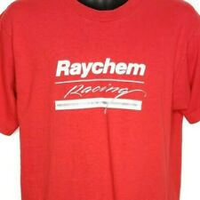Raychem Racing T Shirt Vintage 90s Motorsports Made In USA Red Size Large