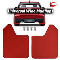 Dirty Racing Red Universal Mudguards Mud Flaps Splash Guards Mudflaps Fender