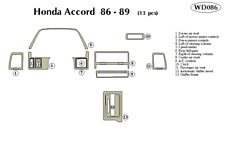 HONDA ACCORD 1986 1987 1988 1989 DASH TRIM KIT