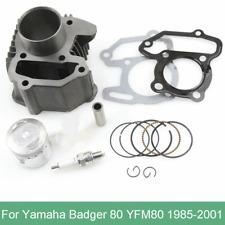 Cylinder Kit Piston Ring Gasket Circlips for Yamaha Badger Grizzly Raptor YFM80