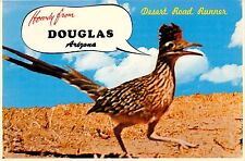 Howdy from Douglas Arizona AZ Roadrunner Clown of the West Postcard road runner