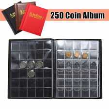 250Coin Collection Storage Penny Pockets Money Album Book Collecting Coin Holder