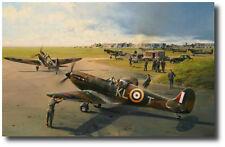 Hornchurch Scramble by Robert Taylor - Spitfire (w/ 3 Pilot Sigs) Aviation Art