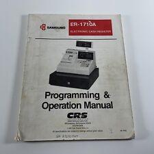 Samsung Er 1710a Electronic Cash Register Operation Instruction Manual Only