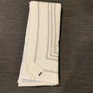 Restoration Hardware Mali Printstitched Organic Cotton Quilt, Grey-Toddler $119