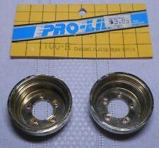 Pro-Line 1100-R Rear Chrome Wheel Covers Tamiya Srb Frog Hornet Rough Rider Rim