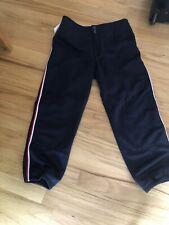 Mizuno Adult Blue W/ Red White Stripe Elastic Bottom Baseball Short Pant Size M