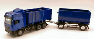 Camion Man F2000 Twin Dump Camion 1:43 Model New Ray