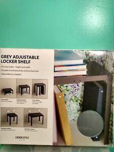 Grey Adjustable Locker Shelf.