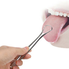 Stainless Steel Tongue Cleaner Scraper Sweeper Dental Hygiene Cleaning Oral Care