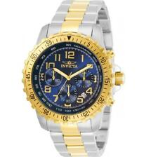 Invicta Specialty 30793 Men's Blue Dial Two-Tone Chronograph Tachymeter Watch