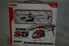 SYMA, S5, 3 channel, remote control, helicopter, black white red, gyroscope, new