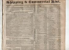 1824 Shipping & Commercial Newspaper, New York City