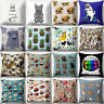 Qu_ Cute Dog Animal Pillow Case Sofa Cushion Cover Pillow Cover Home Decor Boil