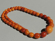 FINE NATURAL BUTTERSCOTCH AMBER BEADED NECKLACE 102 GRAMS
