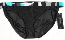 Swimsuit Bikini Bottom L Large Black NEW Be Creative 12 14 Classic Mid Rise 114