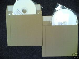 25 CD STRONG CARD ENVELOPE MAILERS - PEEL AND SEAL