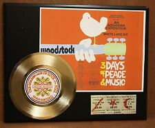 WOODSTOCK POSTER CONCERT TICKET SERIES GOLD RECORD LIMITED EDITION DISPLAY