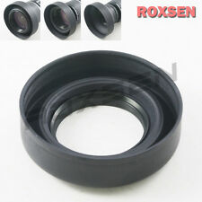 58mm 58 mm 3 stage Collapsible Rubber Lens Hood for Canon Nikon Sony DSLR camera