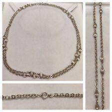 largos Collar 925 Plata Cadena de plata joyería plata con bola COLLAR DE PLATA