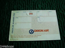 ORION AIR VINTAGE BOARDING PASS