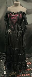 Gothic Victorian  Raven Vintage 2 Piece Outfit size Sm Uk 10/12 deadstock