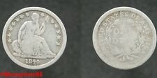 USA ! one dime liberty seated 1840  argent en TB-