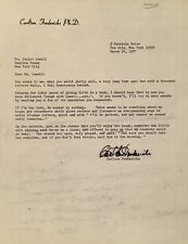 CARLTON FREDERICKS - RENOWNED NUTRITIONIST - TYPED PERSONAL LETTER SIGNED