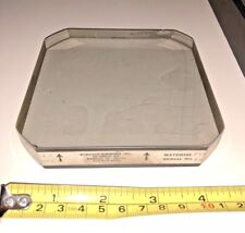 "OPTICAL FLAT .000005"" 4 3/4"" X 4 3/4"" X 1"" SQUARE PYREX VERY GOOD CONDITION"