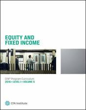 Equity And Fixed Income 2016 Level 1 Volume 5 CFA Program Curriculum