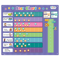 Extra Large Star Magnetic Activity Chart - Encourage your kids to do the tasks!